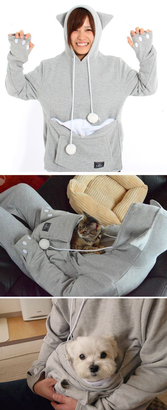 Mewgaroo Hoodie A One of a kind cat sweatshirt for all cat Lovers